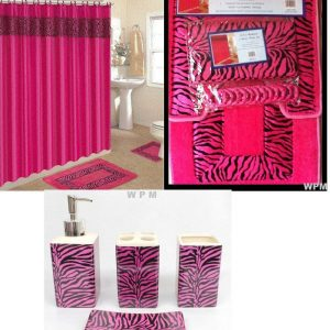 19 piece pink zebra