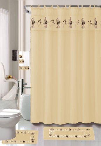 22 Piece Beige Bathroom Set World Products Mart
