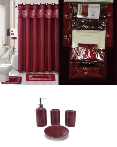 chocolate bathroom set