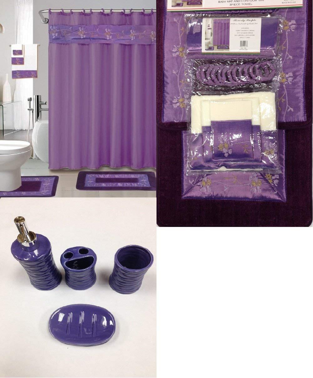 22 Piece Purple Bathroom Set World Products Mart