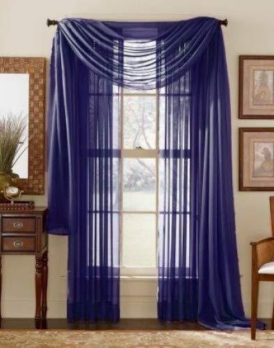 royal blue sheer curtains