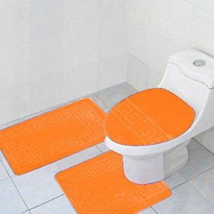 Orange 3-piece bathroom set