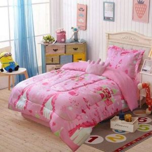 Pink Princess Twin Comforter Set