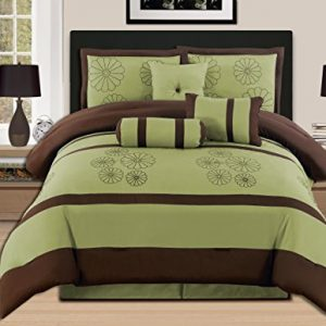 Sage/Brown Comforter Set