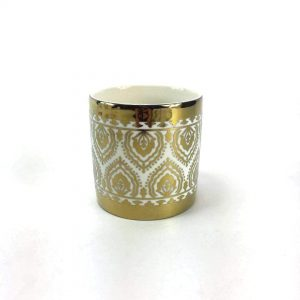 Gold tealight candle holder