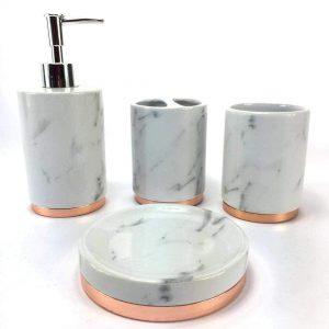 Marble Ceramic Bathroom Accessory Set