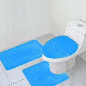 Turquoise 3-piece bathroom set