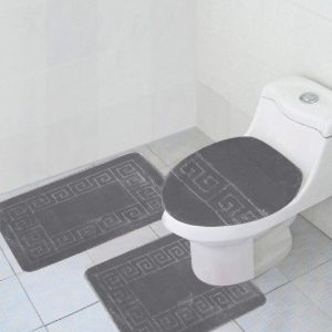 Gray 3-piece bathroom set