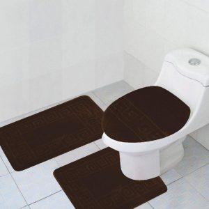 Brown 3-piece bathroom set