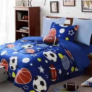 Blue sports kids full bedding set