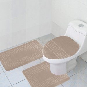 Beige 3-piece bathroom set