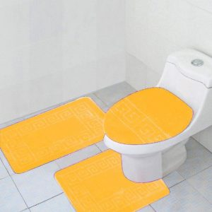 Yellow 3-piece bathroom set