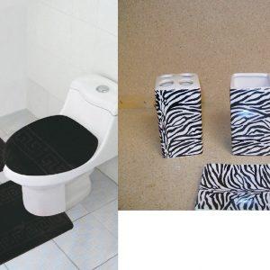 7 piece black zebra
