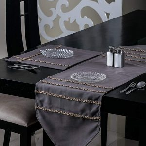 Gray Table Runner and Mat (Jute)