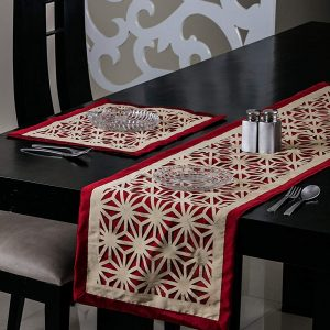 Red Table Runner and Mat