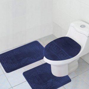 Navy 3-piece bathroom set