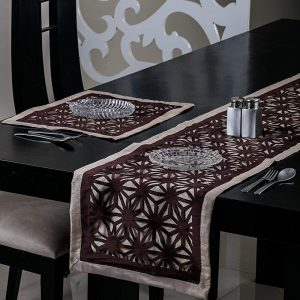 Brown Table Runner and Mat