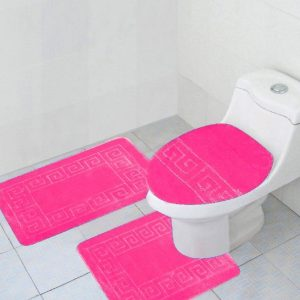 Hot Pink 3-piece bathroom set