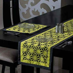 Yellow Table Runner and Mat
