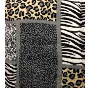 Zebra Leopard Print Sherpa Comforter/Blanket_2