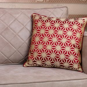 Red Patterned 18×18 Throw Pillow