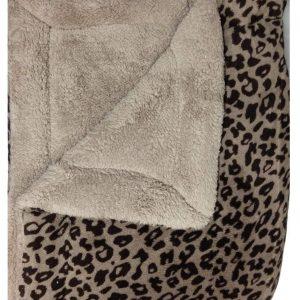 Grey Leopard Design Sherpa Comforter/Blanket