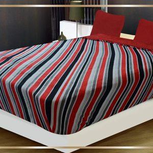 Red White Black Grey Diagonal Stripe Comforter/Blanket