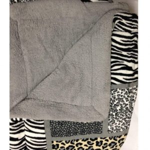 Zebra Leopard Print Sherpa Comforter/Blanket_3