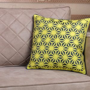 Yellow Patterned 18×18 Throw Pillow