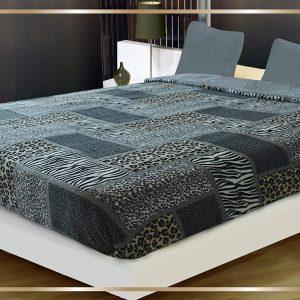 Zebra Leopard Print Sherpa Comforter/Blanket