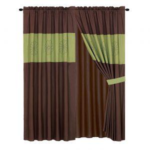Sage Brown Curtains