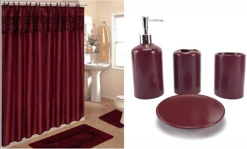 purple bath accessories