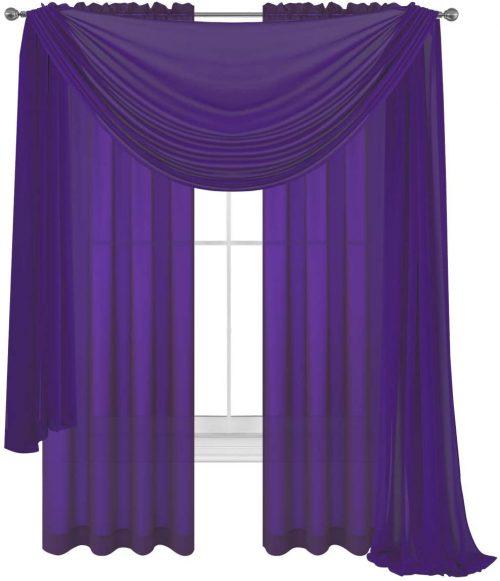 rainbow sheer curtains