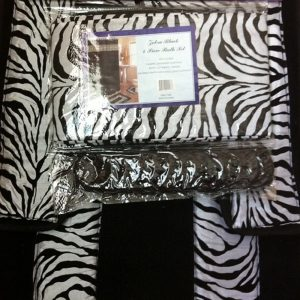 zebra black bath set