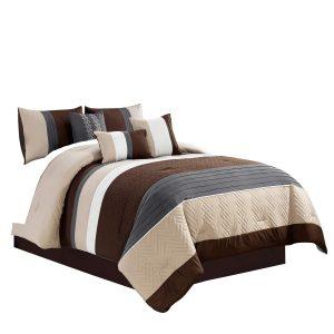 metallic comforter set king