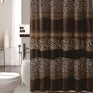 AF 18 Piece Bath Rug Set Leopard Brown Bathroom Rugs Zebra Shower Curtain