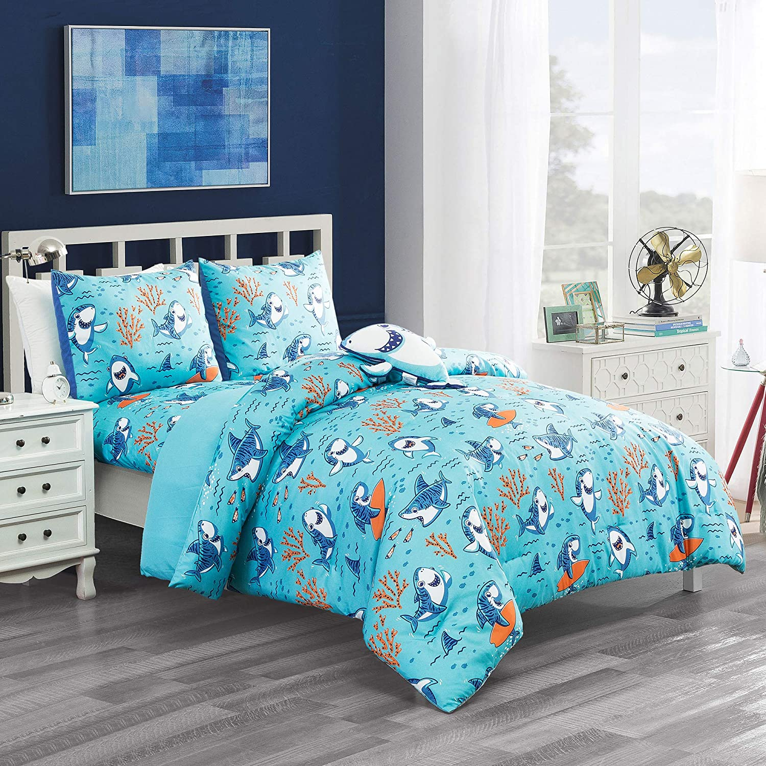 WPM Kids Collection Bedding 5 Piece Blueprint full size ...